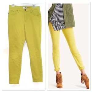 CAbi curvy skinny citron jeans Size 8 Style 5092